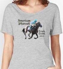 Amerikanische Pharoah Triple Crown 2015 Baggyfit T-Shirt