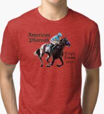 American Pharoah Triple Crown 2015 Tri-blend T-Shirt