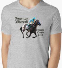 American Pharoah Triple Crown 2015 Men's V-Neck T-Shirt