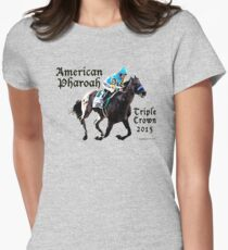 American Pharoah Triple Crown 2015 Women's Fitted T-Shirt