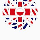 British Polish Multinational Patriot Flag Series by Carbon-Fibre Media