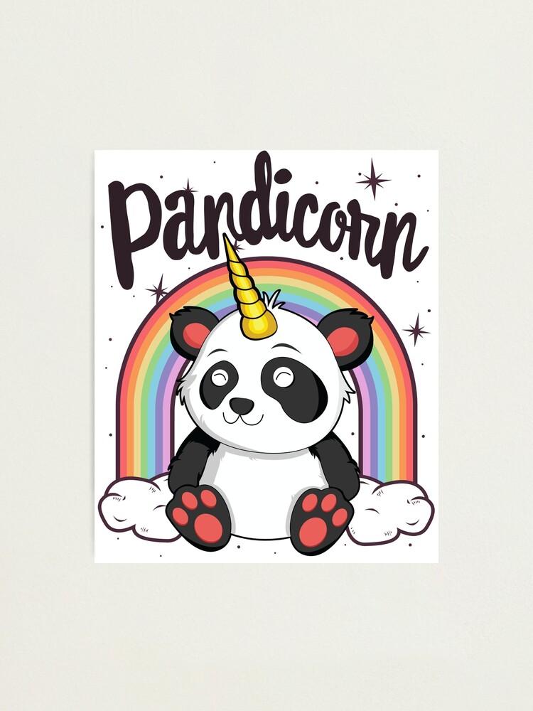 Impression Photo Pandicorn T Shirt Pour Filles Enfants Femmes Licorne Kawaii Panda Par 14thfloor Redbubble