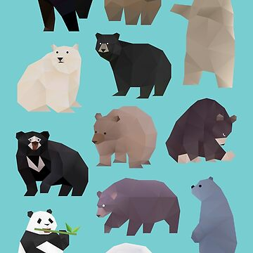 Bears Bears pattern by polymolystudio