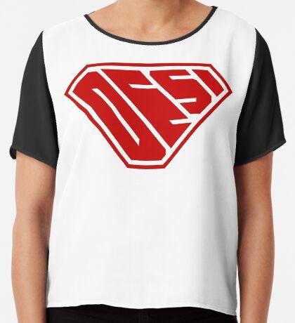 Desi SuperEmpowered (Red) Chiffon Top