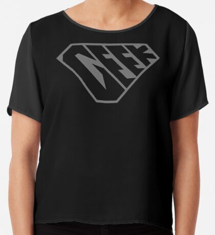 Geek SuperEmpowered (Black on Black) Chiffon Top