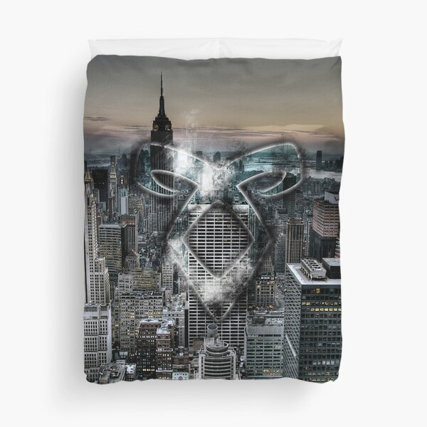 Angelic Rune NYC City-Scape Duvet Cover