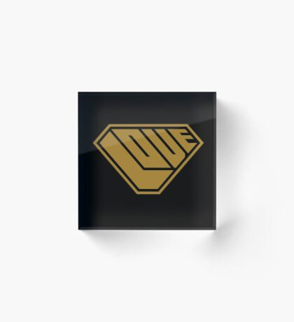 Love SuperEmpowered (Gold) Acrylic Block