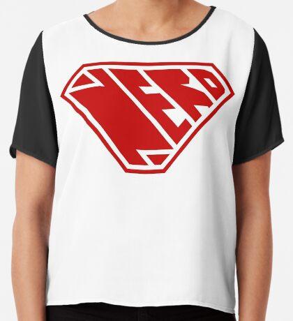 Nerd SuperEmpowered (Red) Chiffon Top