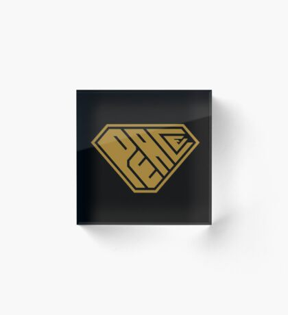 Peace SuperEmpowered (Gold) Acrylic Block