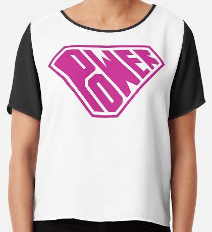 SuperEmpowered (Pink) Chiffon Top