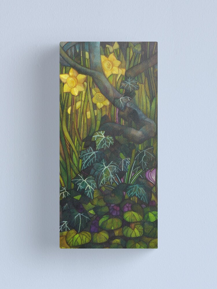 Alternate view of in the shadow with violets Canvas Print