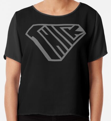 Thick SuperEmpowered (Black on Black) Chiffon Top
