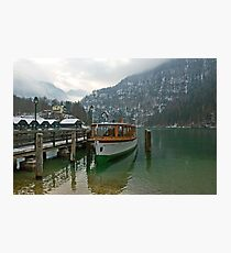 Old boat on Königsee Photographic Print