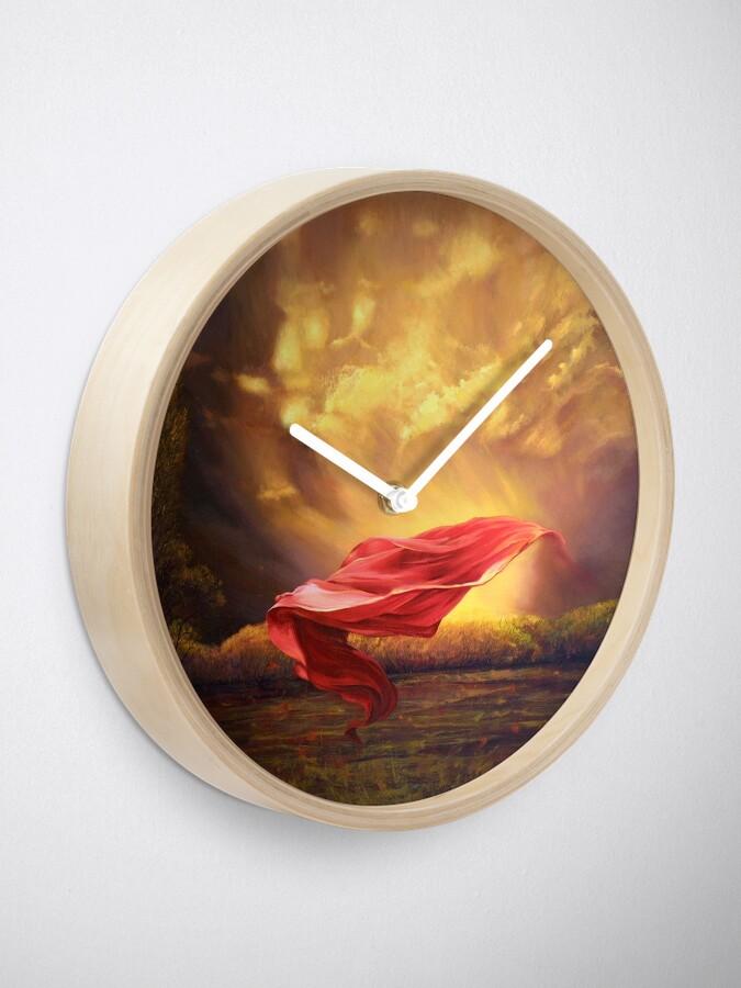 Alternative Ansicht von Roter Schal II Uhr