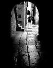 Old Cobblestoned Street by Mojca Savicki