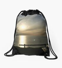 Iceland Sunset in June Drawstring Bag
