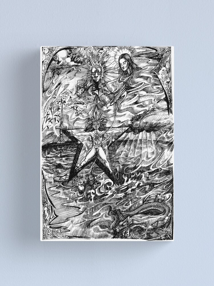 Alternate view of 1988 The Magick Child of the Pentagram Canvas Print