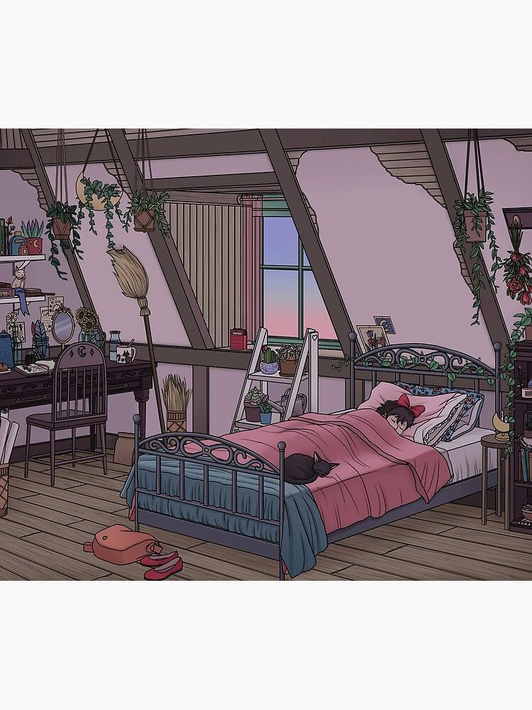 Kiki's Room by kelseydraws