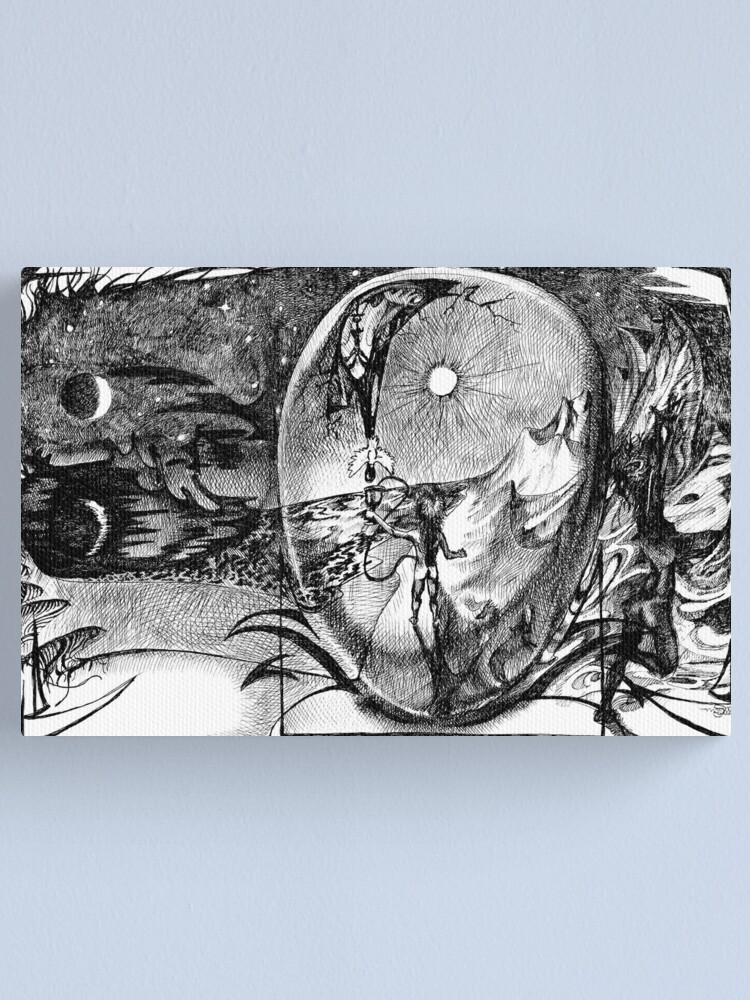Alternate view of 1989 Death and Rebirth Canvas Print