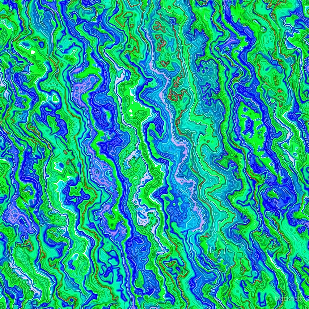 Abstract underwater color streams by blackhalt