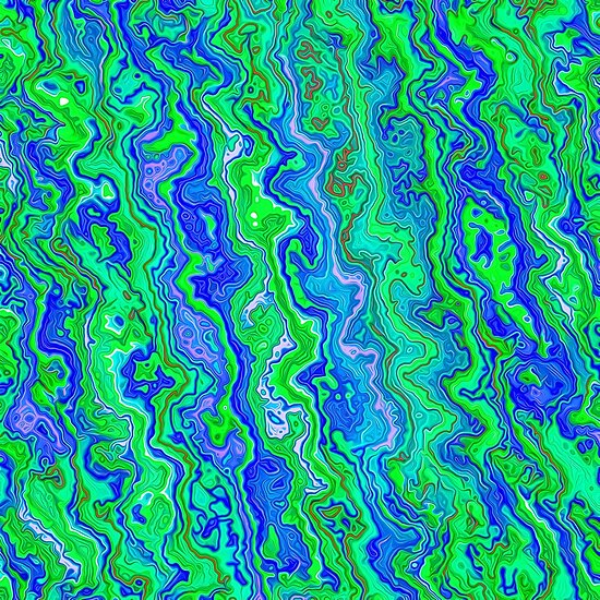 Abstract underwater color streams
