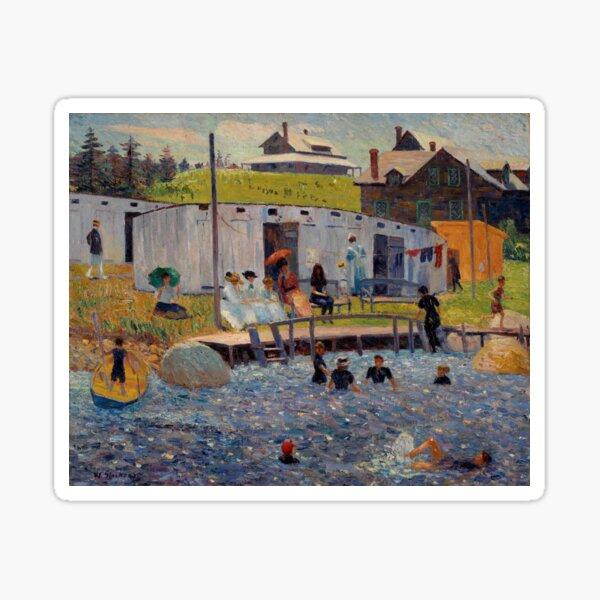 William James Glackens. The Bathing Hour, Chester, Nova Scotia, 1910. Sticker