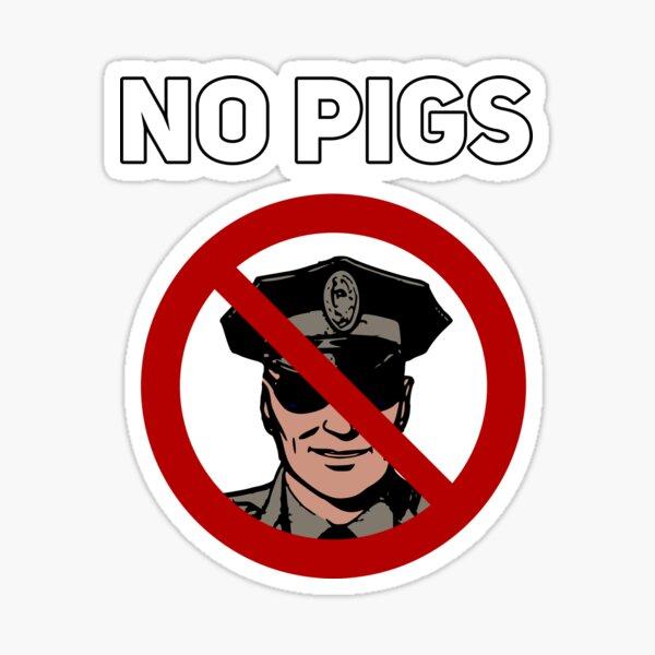 No Pigs BlackLivesMatter Police T-Shirt Pegatina