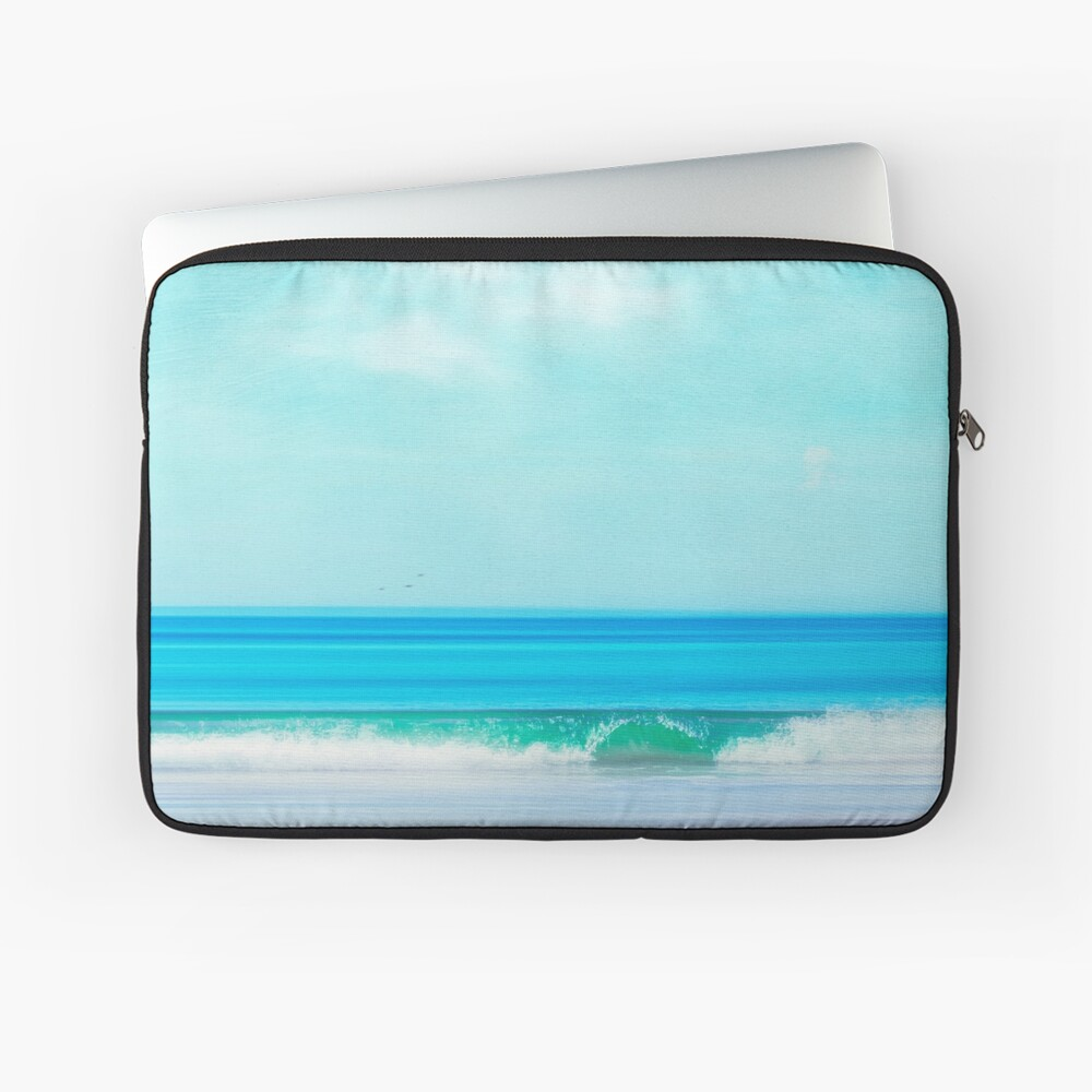 Green Wave - Abstract seascape Laptop Sleeve
