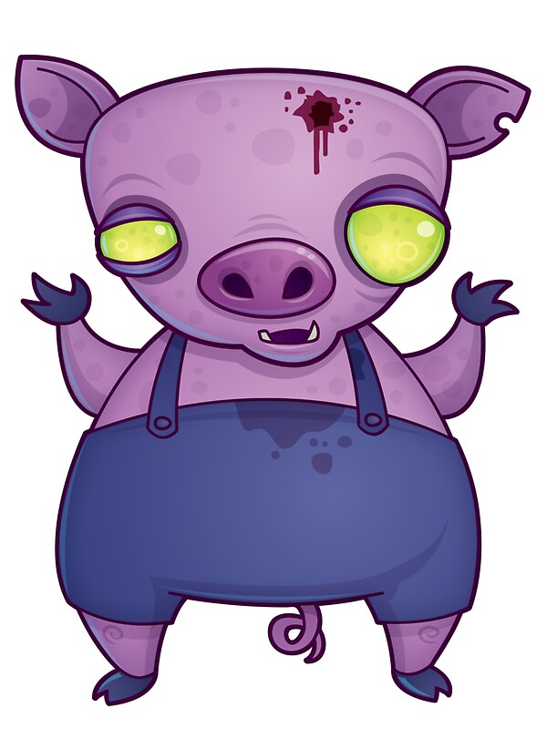 Quot Zombie Pig Quot Stickers By Fizzgig Redbubble