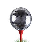 Glitter Golfball by monsterplanet