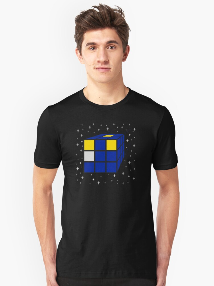 Time and Relative Dimensions in Squares Unisex T-Shirt Front
