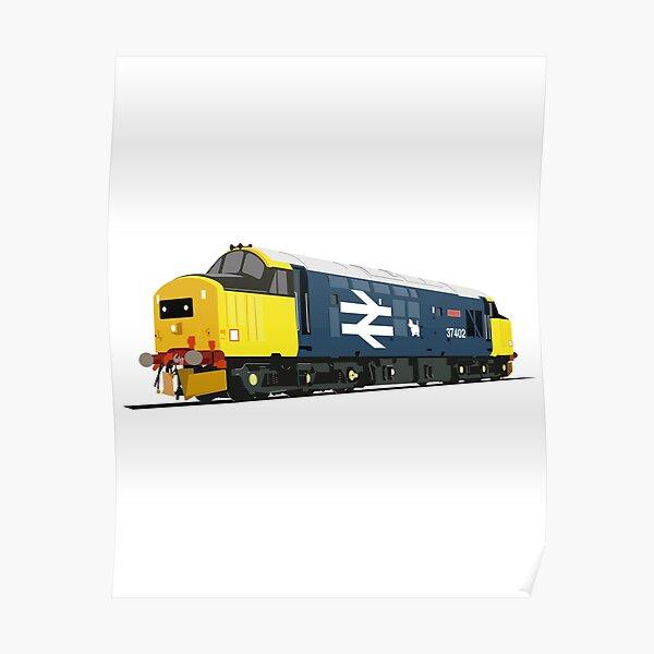 Class 37 locomotive large logo Poster