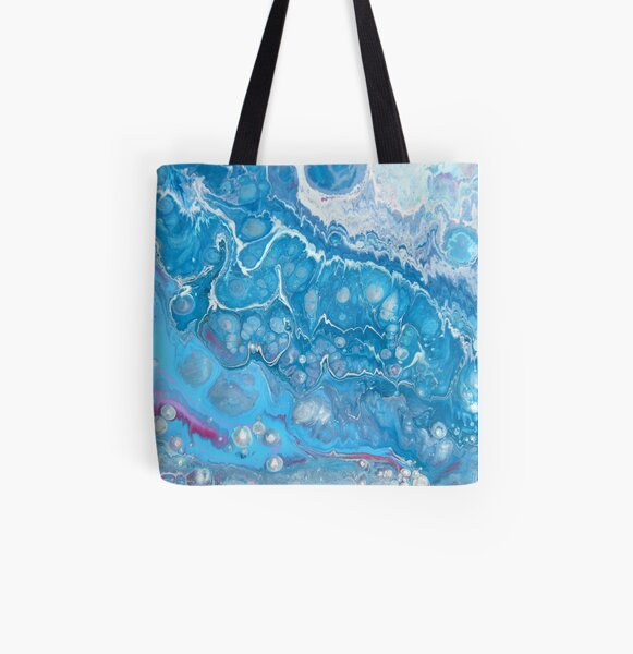 Passion bleu Tote bag doublé