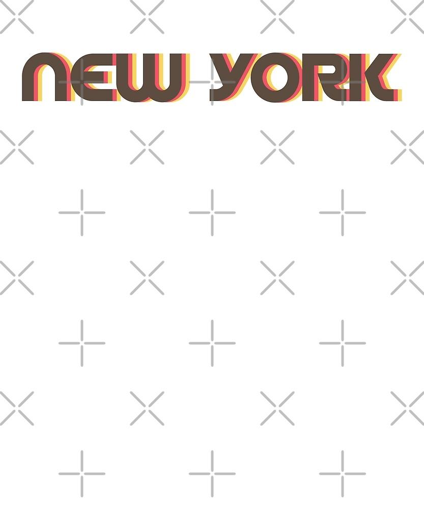 Retro New York T-Shirt by designkitsch