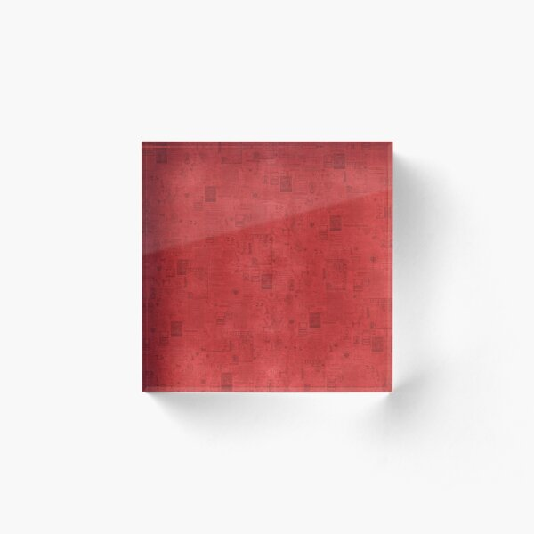 BSIS LVD Collage - red Acrylic Block