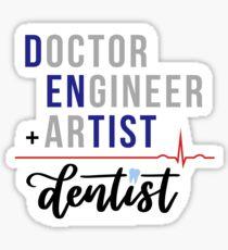 Dentist Formula Sticker