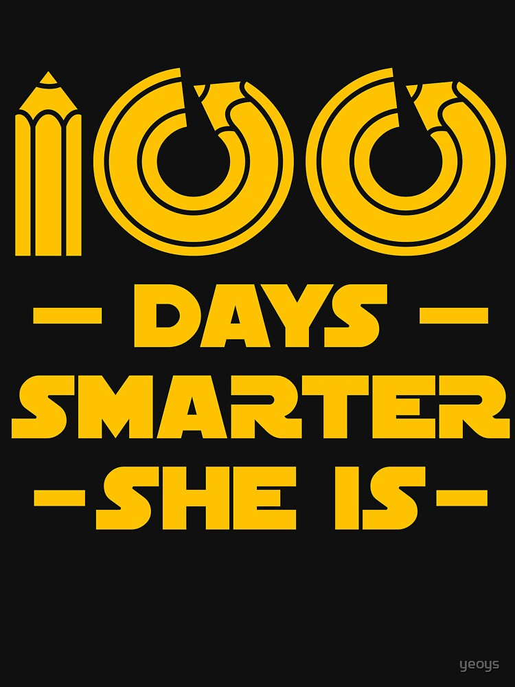 100 Days Smarter She Is - 100 Days Of School Gift von yeoys