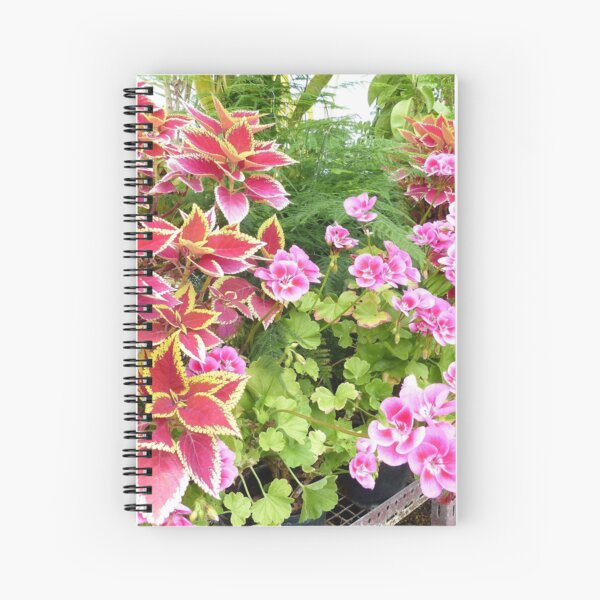 Flowers in a Greenhouse Spiral Notebook