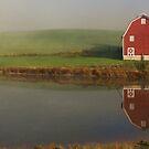 Red Barn By Farm Pond by Don Brogan