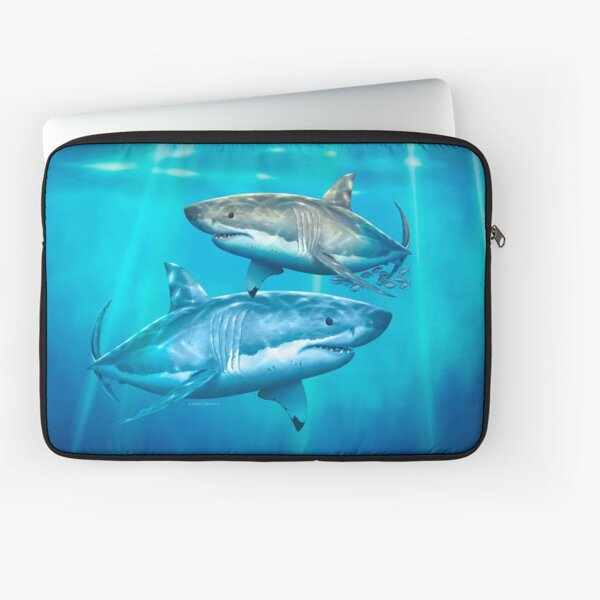 Neptune White Shark Laptop Sleeve