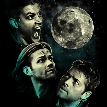 The Mountain Team Free Will Moon - Supernatural Edition by Ryleh-Mason