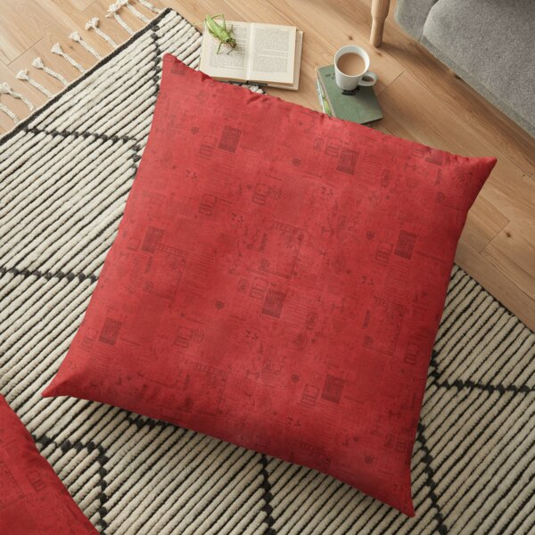 BSIS LVD Collage - red Floor Pillow