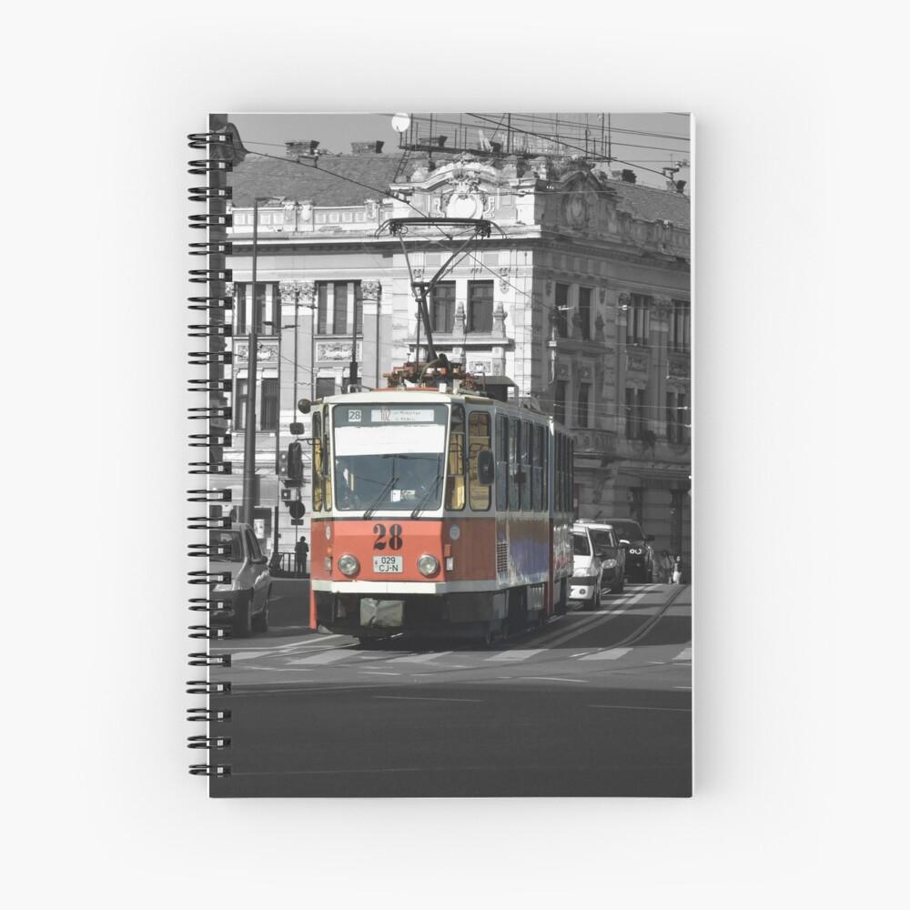 Tram 28 Cluj Spiral Notebook