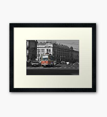 Tram 28 Cluj Framed Print