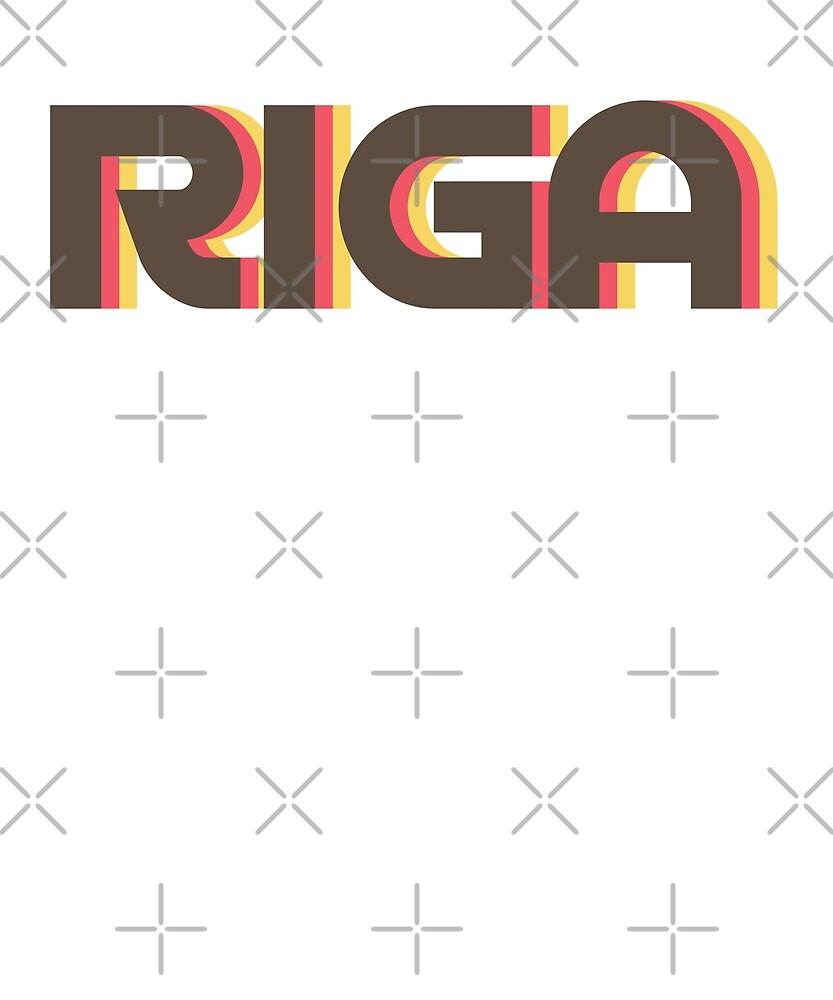 Retro Riga T-Shirt by designkitsch