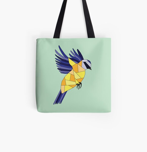 British Birds - Blue Tit All Over Print Tote Bag