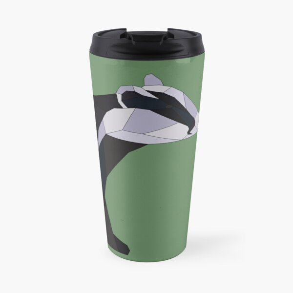 Geometric Badger Travel Mug