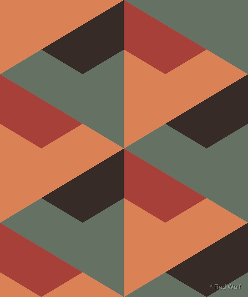 Geometric Pattern: Stealth: Autumn by * Red Wolf