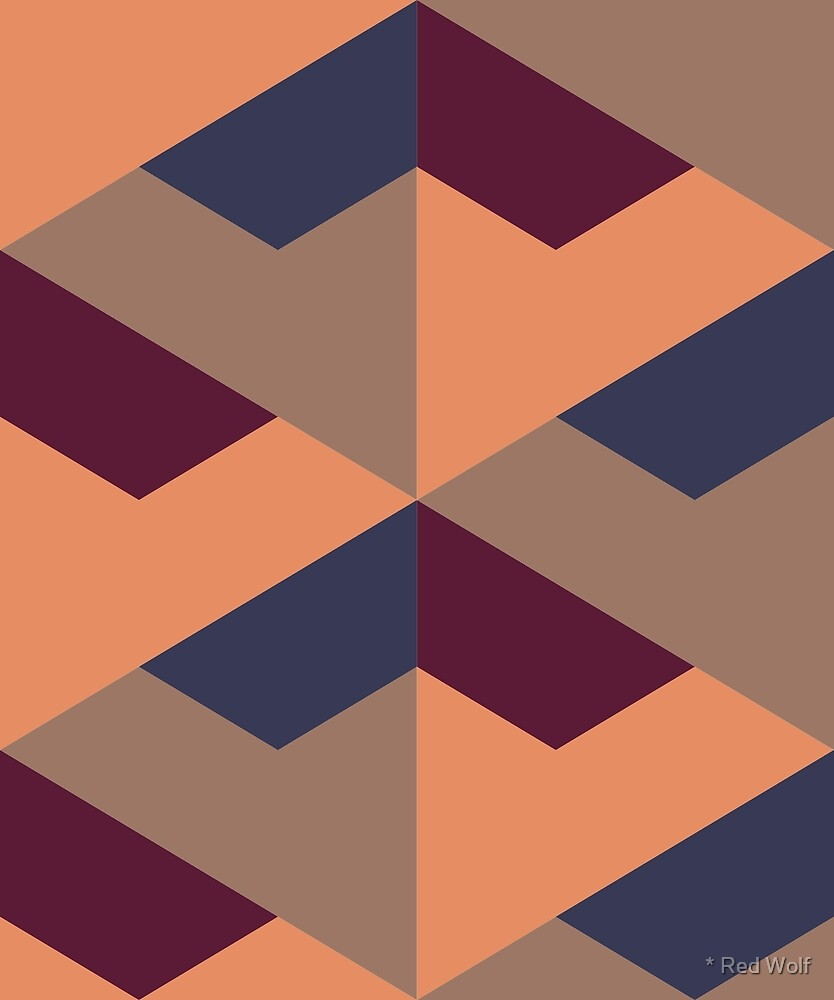 Geometric Pattern: Stealth: Mushroom by * Red Wolf