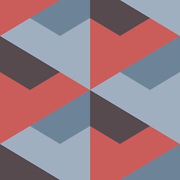 Geometric Pattern: Stealth: Terracotta by redwolfoz